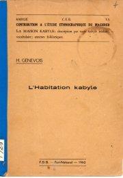 H. Genevoix, l' habitation kabyle, FDB, Fort-National, 1962 - Ayamun