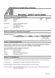 MATERIAL SAFETY DATA SHEET - Proximedia