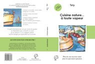 Cuisine nature... à toute vapeur - Cuisine-et-decouvertes.com