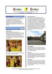 Ouderinformatiebulletin van kinderdagverblijf Pinokkio ... - Proximedia