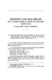 DECOUVERTE D'UNE SÉRIE CRETACEE