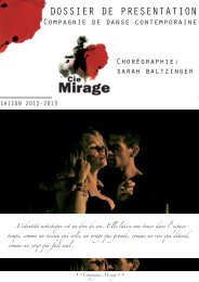 Le book de la Compagnie Mirage