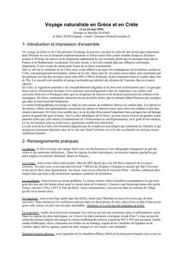 12 pages. Itinéraire, principaux sites, liste commentée des ... - LPO