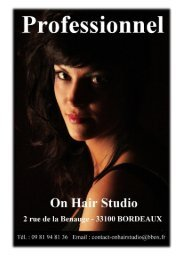 Formation professionnelle - On Hair Studio