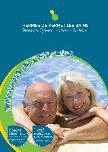 Télécharger la brochure - Etablissement Thermal de Vernet les Bains