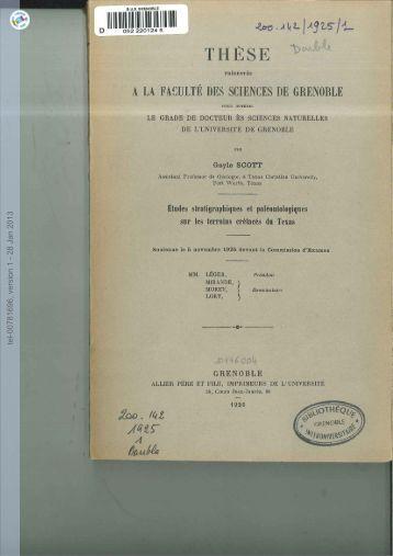 [tel-00781696, v1] Études stratigraphiques et paléontologiques sur ...