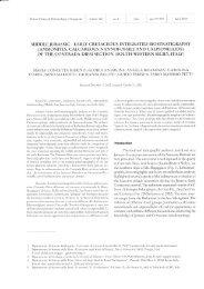 ammonites, calcareous nannofossils and calpionellids