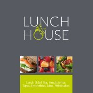 Lunch, Salad Bar, Sandwiches, Tapas, Smoothies ... - Lunch House
