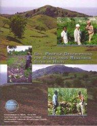 SOIL PROFILE DESCRIPTIONS SITES IN HAITI