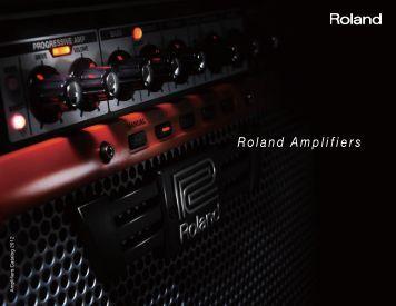 Amplifier Catalog 2012 - Roland