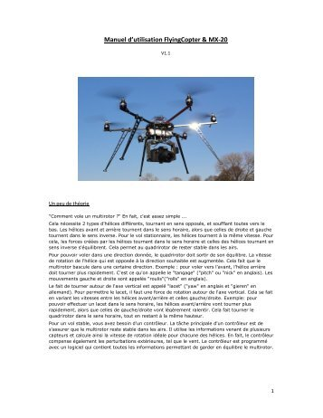 Mode d'emploi du drone v1 - Flying Eye