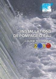INSTALLATIONS DE POMPAGE D'EAU - Snecorep.com