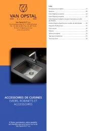 Eviers, robinets et accessoires - van opstal