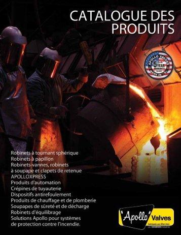 cataloguedes produits - Apollo Valves