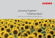 ?Growing Together - Creating Value?.