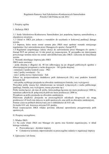 Regulamin Jazd PCP 2013 - Porsche Club CMS