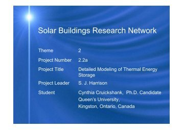 Solar Buildings Research Network