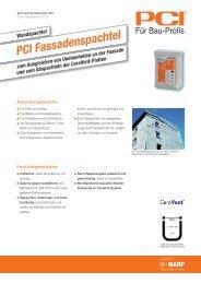 Wandspachtel PCI Fassadenspachtel - PCI-Augsburg GmbH