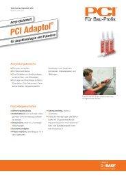 Acryl-Dichtstoff PCI Adaptol - PCI-Augsburg GmbH
