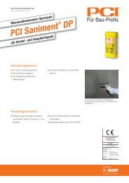 PCI Saniment - PCI-Augsburg GmbH