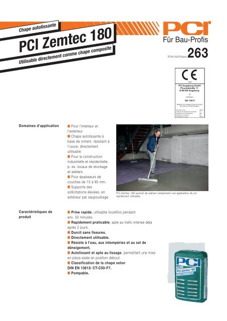 PCI Zemtec 180 - PCI-Augsburg GmbH