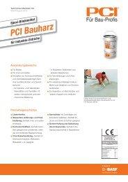 Epoxi-Bindemittel PCI Bauharz - PCI-Augsburg GmbH