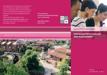 masterstudiengang wirtschaftspsychologie und ... - Universität Kassel