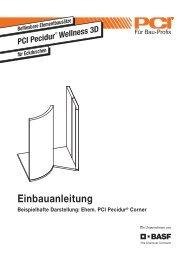 Einbauanleitung - PCI-Augsburg GmbH