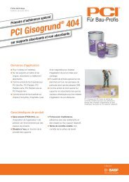 PCI Gisogrund - PCI-Augsburg GmbH