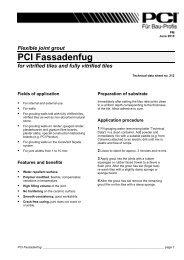Flexible joint grout PCI Fassadenfug for vitrified tiles and fully ...