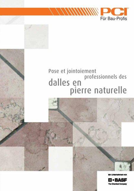 dalles en pierre naturelle - PCI-Augsburg GmbH