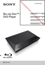 Blu-ray Disc™ / DVD Player - Vanden Borre