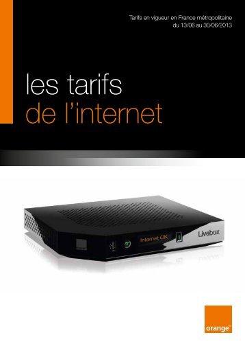 les tarifs de l'internet - Orange