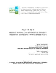 PROJET : 08-BIO-30 - Agri-Réseau