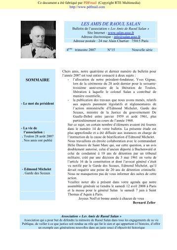 LES AMIS DE RAOUL SALAN