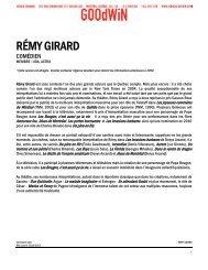 Full bio (pdf) - Agence Goodwin