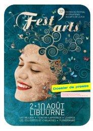 Télécharger le dossier de presse (PDF) - Fest'arts