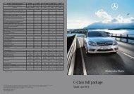 C-Class full package - Mercedes - Benz Egypt. Cairo National ...