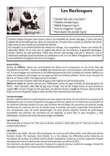 École et cinéma - Les Burlesques (courts métrages)