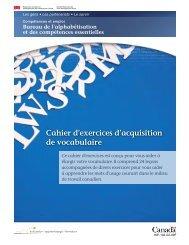 Cahier d'exercices d'acquisition de vocabulaire - Base de données ...