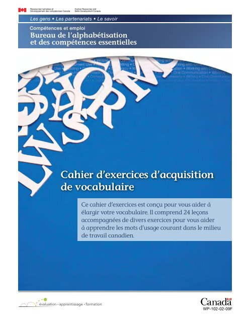 Cahier D Exercices D Acquisition De Vocabulaire Base De Donnees