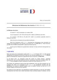 Décision n° MDS-2011-31 relative aux circonstances d'une ...