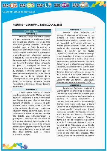 germinal resume par partie 28 images r 233 sum 233 germinal