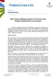 Ganador II concurso de relato hiperbreve - El Sauzal