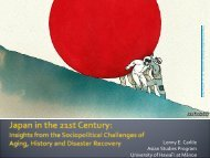 Japan in the 21st Century: Insights from the ... - East-West Center