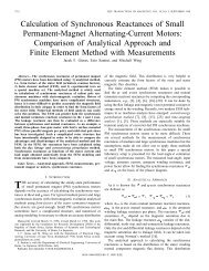 Calculation of synchronous reactances of small permanent magnet ac