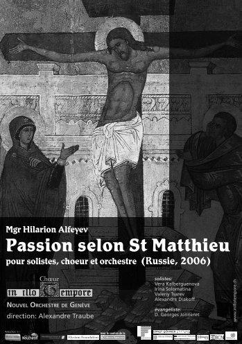 Passion selon St Matthieu - In illo tempore