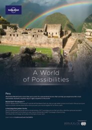 A World of Possibilities - Lonely Planet