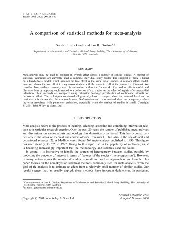 methodology for statistical analysis The methods section describes actions to be taken to investigate a research problem and the rationale for the application of will you use statistical analysis.