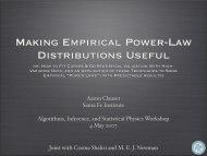 Making Empirical Power-Law Distributions Useful